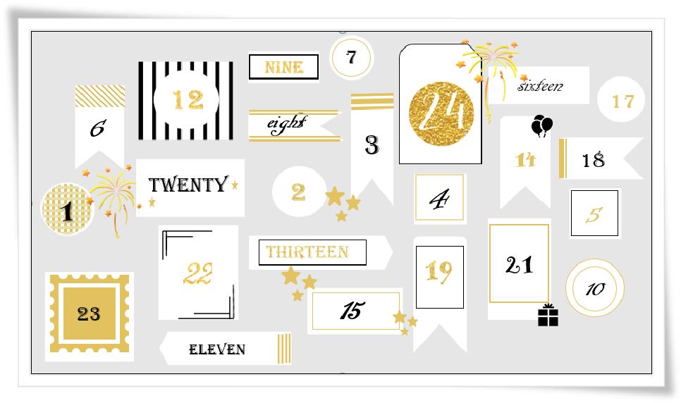 Unser Kalender für das Weihnachtsgewinnspiel